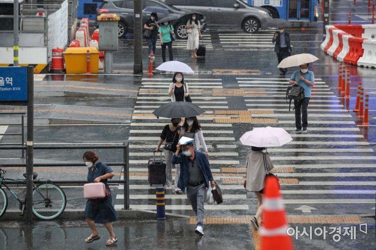 [포토]비내리는 서울 도심