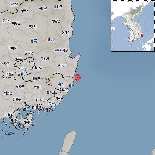 """기상청 """"울산 북구 동북동쪽서 규모 2.2 지진 발생"""""""