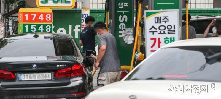 [포토]'전국 주유소 휘발유 가격 13주 연속 상승'