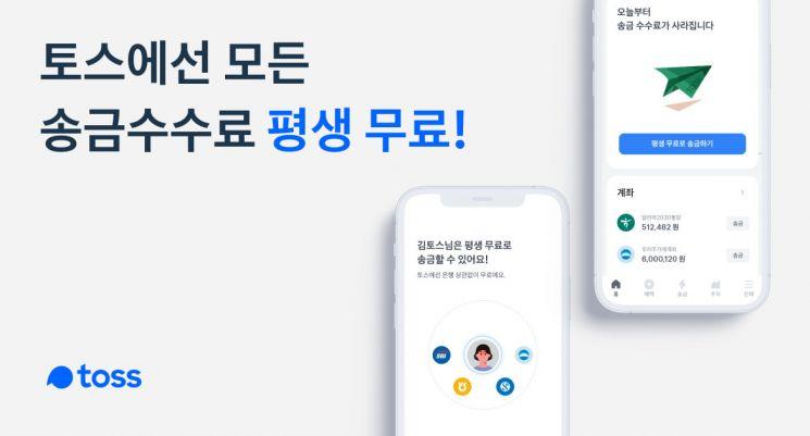 """'수퍼앱' 나서는 토스, """"오늘부터 송금 수수료 평생 무료"""""""
