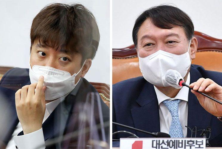 이준석 국민의힘 대표, 윤석열 전 검찰총장