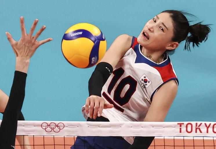 한국 여자 배구 대표팀 김연경 선수. [이미지출처=연합뉴스]