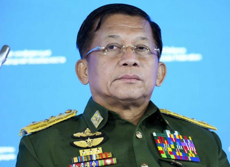 민 아웅 흘라잉 미얀마 최고사령관 [이미지출처=AP연합뉴스]