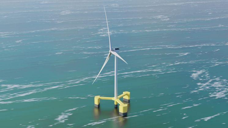 8MW급 부유식 해상풍력 시스템 조감도/사진제공=두산중공업