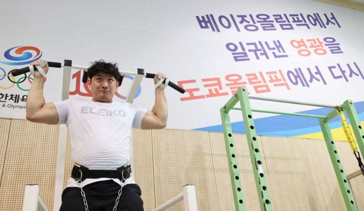 한국 남자 역도 109kg급 대표 진윤성 선수. [이미지출처=연합뉴스]