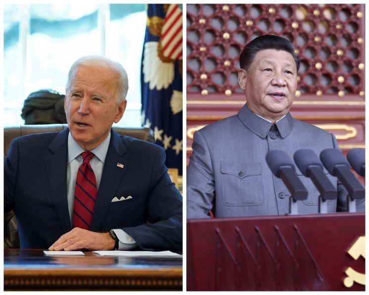 조 바이든 미국 대통령(왼쪽)과 시진핑 중국 국가 주석  [사진 제공= AP연합뉴스]