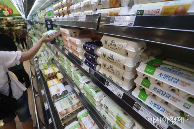 3일 서울 시내 한 대형마트에서 시민들이 장을 보고 있다. 이날 통계청이 발표한 7월 소비자물가동향에 따르면 지난달 가공식품은 부침가루(11.1%), 국수(7.2%), 식용유(6.3%), 빵(5.9%) 등이 오르면서 1.9% 상승했다. /문호남 기자 munonam@