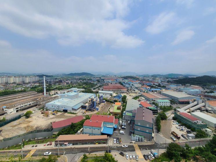 최근 악취 민원이 급증하고 있는 경남 김해시 진영·본산리 준공업지역.[이미지출처=김해시]