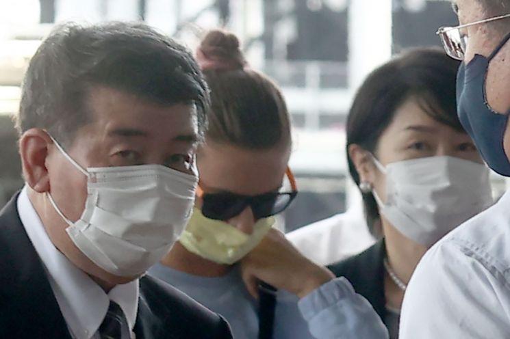 4일 일본 나리타공항에서 찍힌 벨라루스 육상선수 크리스치나 치마노우스카야의 모습 (사진제공=연합뉴스)