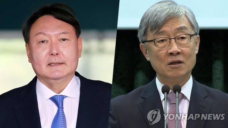 윤석열 전 검찰총장과 최재형 전 감사원장 [이미지출처=연합뉴스]