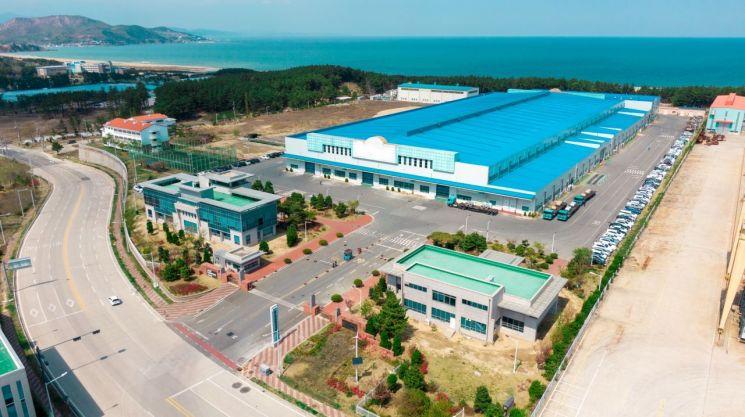 전기차 핵심부품인 구동모터코어를 생산하는 포스코SPS(사진)은 올해 상반기 영업이익 172억원을 기록했다.  사진제공=포스코인터내셔널