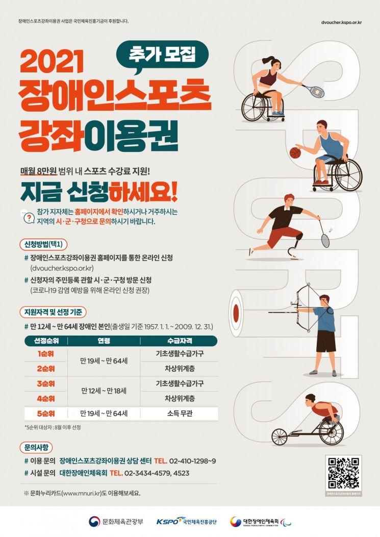 목포시, 장애인스포츠강좌이용권 지원자 모집