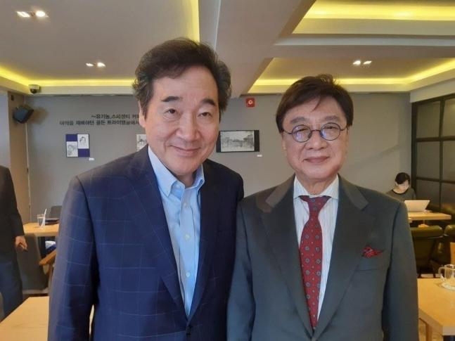 민주당 이낙연 전 대표와 최성해 전 동양대 총장(왼쪽부터). /사진=이재명 열린캠프 제공