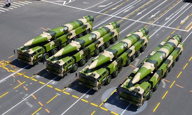 중국 둥펑(DF) 계열 중거리 탄도 미사일(사진=글로벌 타임스 캡처)