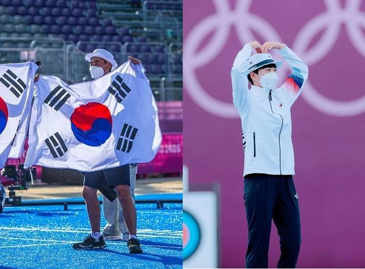양궁에 새로운 신화를 쓴 김제덕, 안산 선수. ⓒ김제덕, 안산 인스타그램