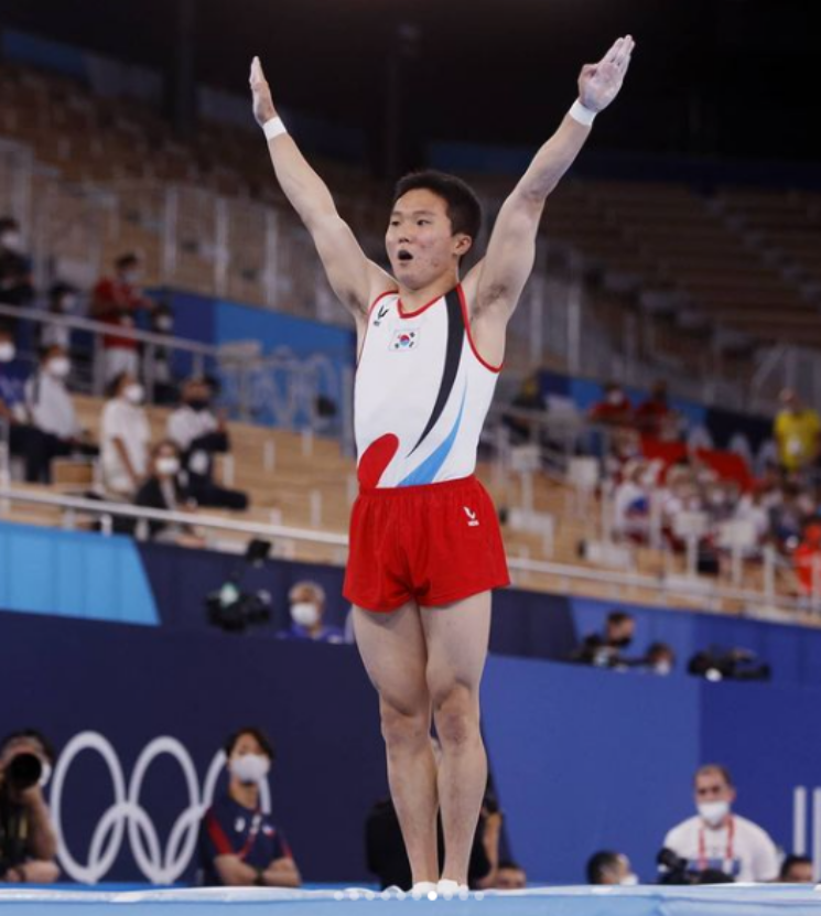 올림픽 기계체조 도마계에 9년 만에 금빛 소식을 전한 신재환 선수. ⓒ도쿄올림픽 공식 인스타그램