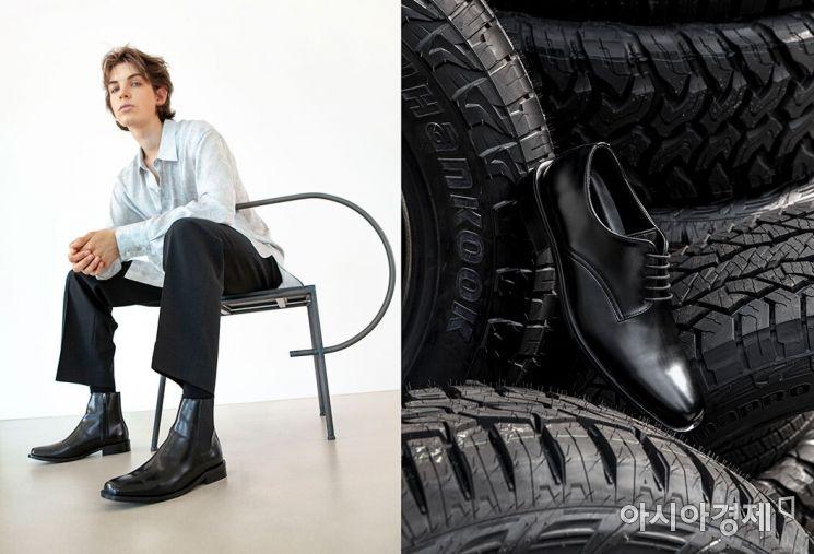 한국타이어, 슈즈 브랜드 '야세'와 폐타이어 제작 신발 출시