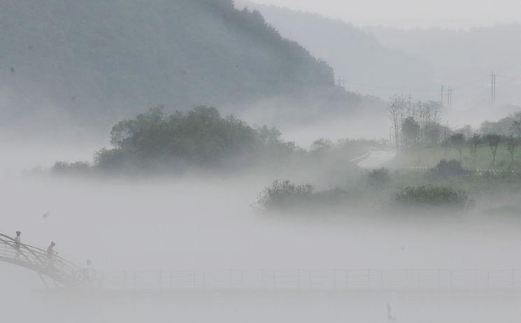 북한강의 이른아침
