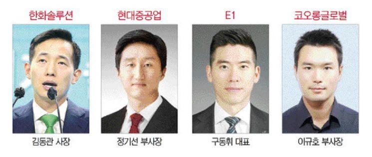 '수소 원팀' 합류한 MZ세대 오너들