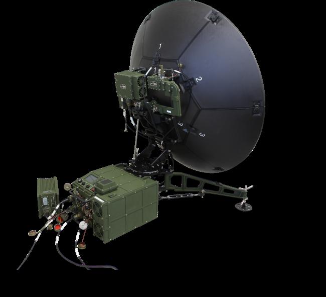 한화시스템이 양산하는 군위성통신체계-Ⅱ 운반용 단말기/사진제공=한화시스템