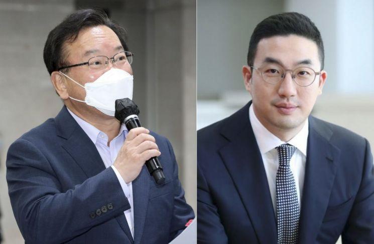 김부겸 국무총리(왼쪽)와 구광모 LG 회장