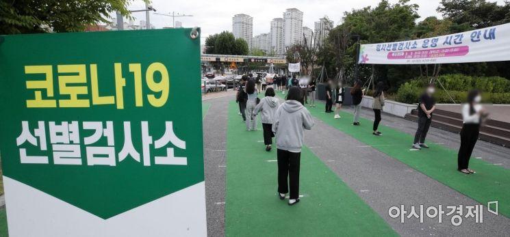 [포토] 신규 확진 다시 2천명대…추석 연휴 확산 비상