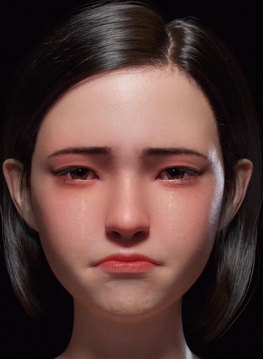 중국의 가상인간 '앤지'를 둘러싼 외모 평가가 이어지고 있다.  [사진=트위터 캡처]