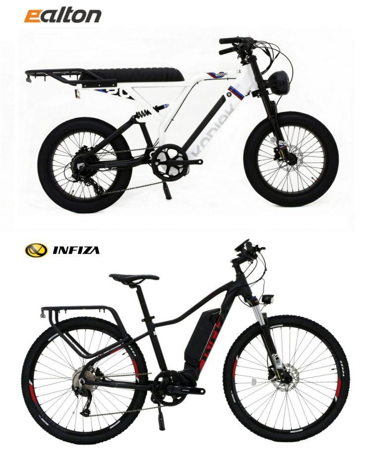 알톤스포츠가 출시한 고성능 전기자전거 '탈레스 HT500'과 '코디악20FAT'. 사진제공 = 알톤스포츠