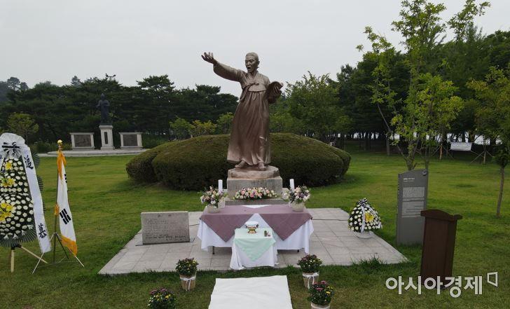 윤희순 의사 동상(춘천 의암공원)