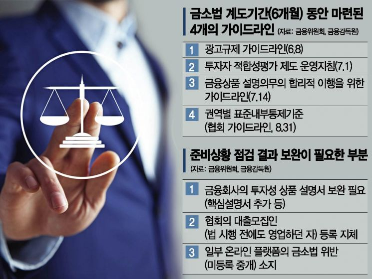 금소법 계도기간 종료 D-1…업계는 '신중모드'(종합)