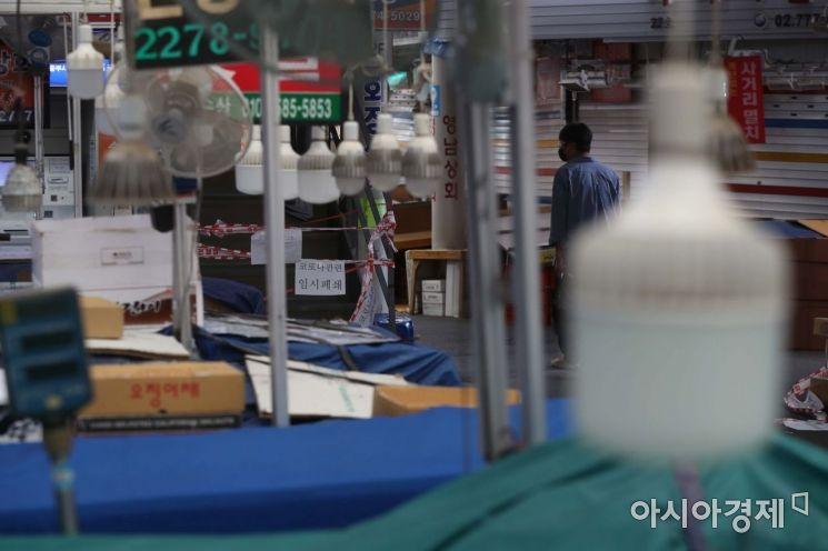 [포토]임시폐쇄로 한산한 중부시장