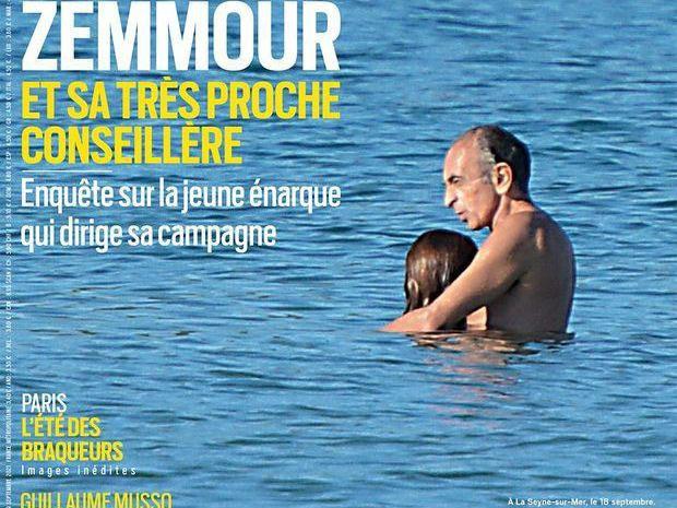 '제무르와 그의 아주 가까운 여성보좌관'이라는 제목의 사진이 공개됐다. /사진=파리마치 표지 캡처