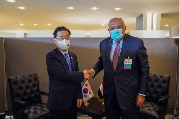 韓-이집트 외교장관 회담…FTA 체결 추진 공감대