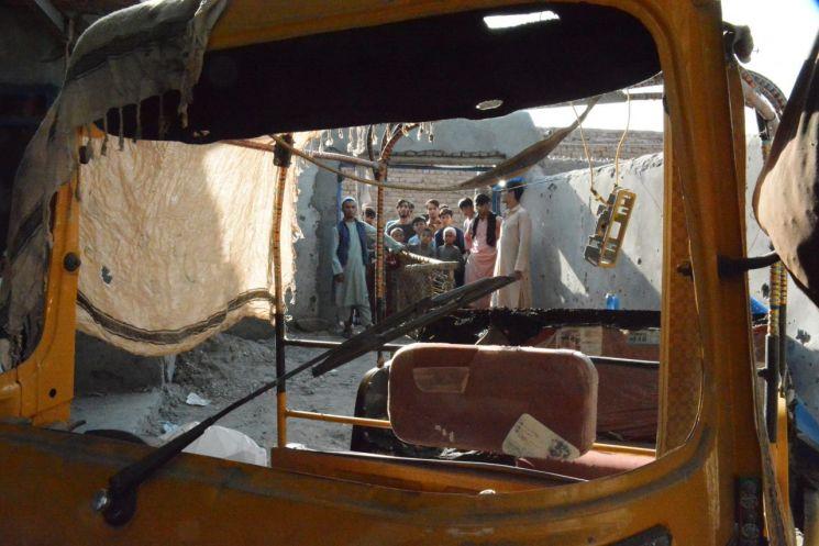 미군 무인기의 공습 당한 아프간 IS-K 목표물 [이미지출처=연합뉴스]