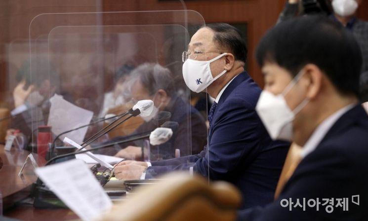 [포토] 대외경제장관회의 발언하는 홍남기 부총리