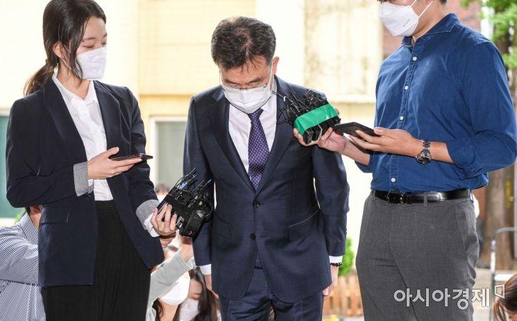[포토]고개숙인 김만배 화천대유 대주주