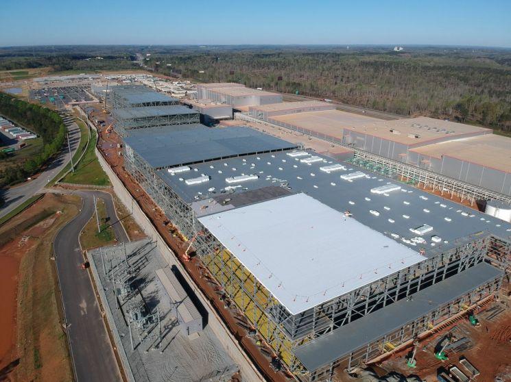 미국 조지아주에 짓고 있는 SK이노베이션 배터리공장<사진제공:SK이노베이션>