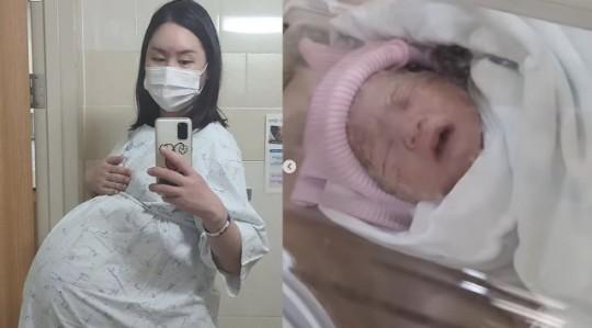 황신영이 공개한 자신의 임신 모습과 아기 사진. /사진=황신영 인스타그램 캡쳐