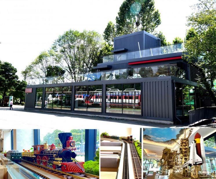 기차가 있는 풍경 전경과 내부 미니어처 전시물