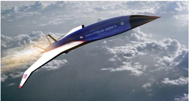 미국 허미어스사가 개발 중인 극초음속 항공기.
