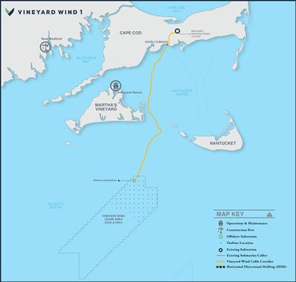 800㎿ 규모로 건설되는 빈야드 윈드 1 프로젝트 위치도 ⓒ 아시아경제