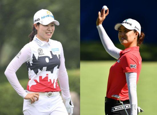 '국내 넘버 1' 박민지(왼쪽)와 '에비앙 챔프' 이민지가 하나금융그룹챔피언십에서 자존심 대결을 펼친다.