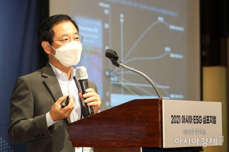 [포토]아시아 ESG심포지엄서 주제발표하는 김세훈 현대차 연료전지사업부장