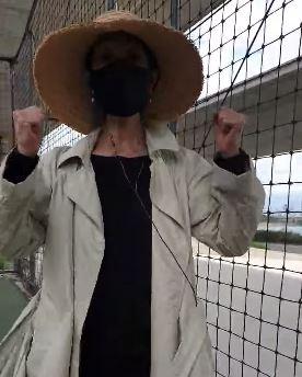 배우 김부선씨. 사진=페이스북 화면 캡처.