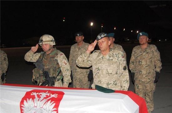 거수 경례하는 폴란드군 모습(사진=위키피디아)
