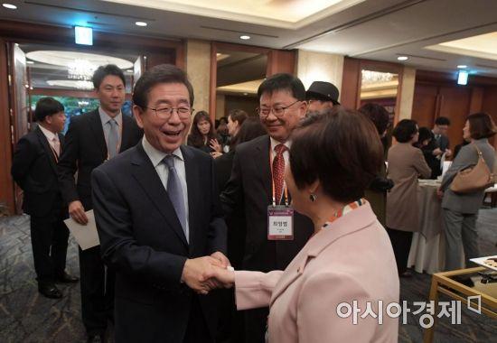 """[2018여성포럼]박원순 서울시장 """"포용적 성장의 주체는 여성"""""""