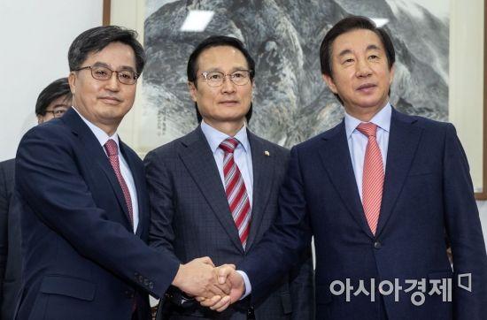[포토] '더불어한국당' 탄생(?)
