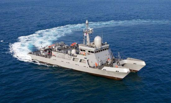 사진은 우리 해군의 다목적훈련 지원정