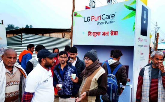 LG전자, 인도 최대 축제에 정수기·세탁기 설치