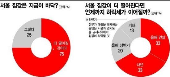 """[주택시장 긴급점검] """"서울 집값 바닥 아직 멀었다"""""""